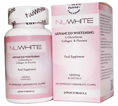 NUWhite Advanced L-Glutathione Collagen Placenta Anti-Aging Whitening Capsules