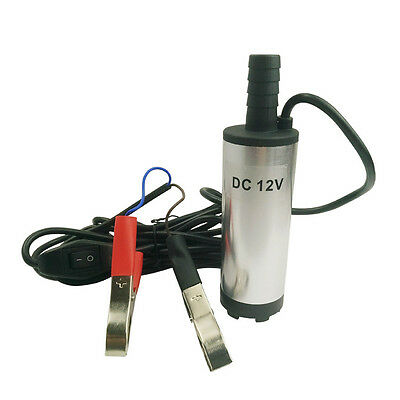 New DC 12V Submersible Pump 38mm Water Oil Diesel Fuel Transfer Refueling