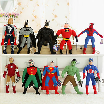 45Cm Marvel Hero Spiderman Batman Superman Soft Doll Stuffed Plush Figurines Toy