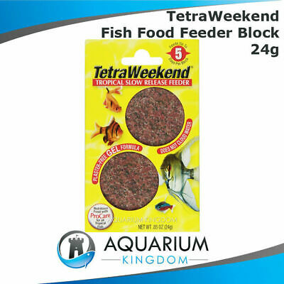 Tetra TetraWeekend 5 Day Fish Feeder Block 24g 2pk Weekend Vacation Holiday Food