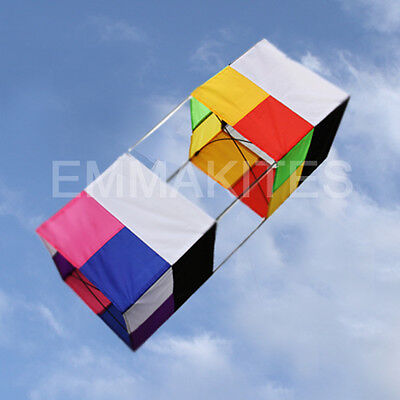 HOT 85M Traditional 3D Box Single Line Kite with High Performance For All Ages