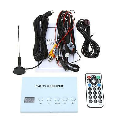 Mini Car DVD TV Receiver Monitor Analog TV Tuner Strong Signal Box Antenna F2Y9