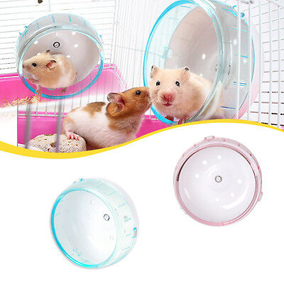Pet Hamster Mouse Rat Exercise Plastic Silent Running Spinner Wheel Activity Toy