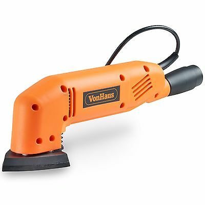 VonHaus 180W 90mm Triangle Detail Sander with 5 FREE Sanding Sheets & Dust Extra