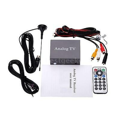 Remote DVB Car DVD TV Box Strong Signal Receiver Analog TV Tuner + Antenna F5Z9