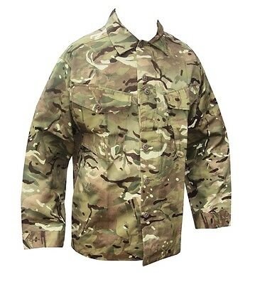 British Army - MTP TROPICAL COMBAT SHIRT - MTP CAMOUFLAGE - Grade 1
