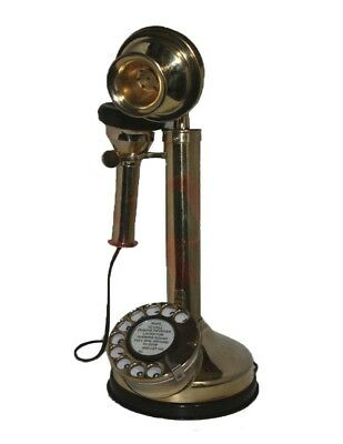 VINTAGE OLD CANDLE STICK BRASS TELEPHONE ANTIQUE EARLY 20th CENTURY