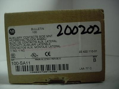 Allen-Bradley 100-Sa11 Auxiliary Contact Side Mount New!!