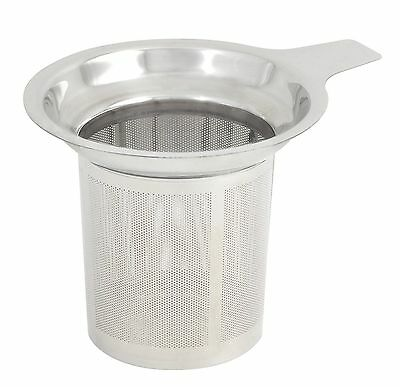 Stainless Steel Round Tea Infuser Filter Strainer Sieve & Tray Metal Cup Mug UK!