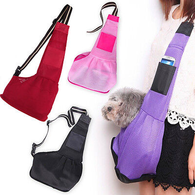Pet Dog Cat Puppy Carrier Single Shoulder Sling Bag Strap Travel Totes Backpack