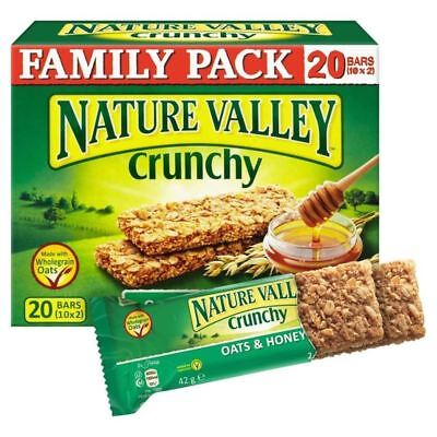 Nature Valley Crunchy Granola Bars Oats & Honey Family Pack 10 x 42g
