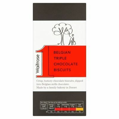 Belgian Triple Chocolate Biscuits Waitrose 125g