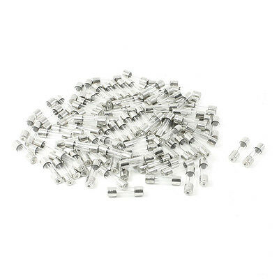 HE 100 Pcs 250 Volts 10Amp Fast Blow Type Glass Tube Fuses 5 x 20mm