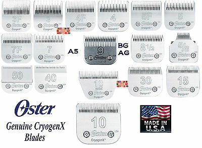 OSTER Cryogen X A5/A6 Blade*Fit Andis AG BG,Most Wahl,Moser,Laube,Geib Clippers
