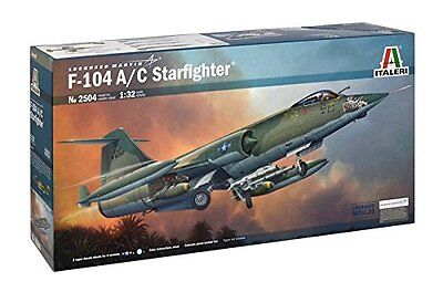 F-104 A/C Starfighter Decals 4 Versions Plastic Kit 1:32 Model 2504 ITALERI