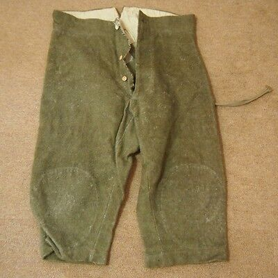 AA44 String Khaki Trousers With Three Button For Winter Japanese Antique WW2 Era