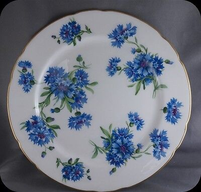 """Hammersley Blue Corn Flower 9 3/8"""" Luncheon Plate (two available)"""