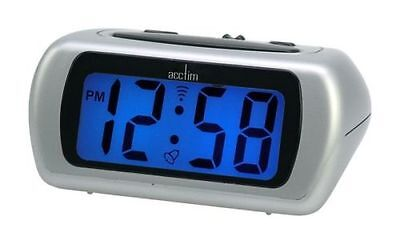Acctim Auric Digital Battery Alarm Clock With Blue Backlight Lcd & Snooze