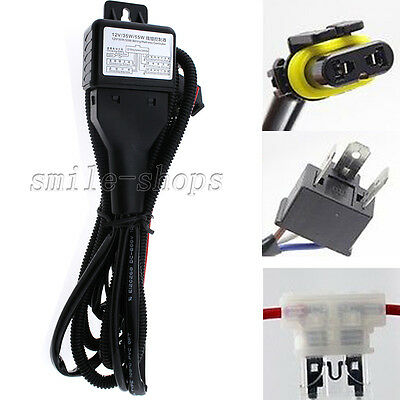 HID Xenon Hi/Lo Headlight H4/9003 Bulbs Relay Fuse Cable Wiring Harness 35W/55W