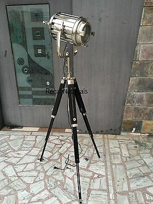 Nautical Studio Floor Light Searchlight Spot Light With Tripod Stand Lamps