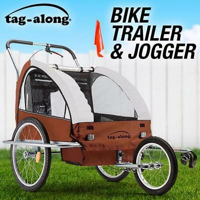 SGS Safety Kids Bike Trailer Child Bicycle Pram Stroller Children Jogger Coffee