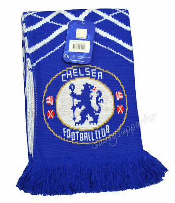 Chelsea FC EPL Football Soccer Licensed Apex Jacquard Scarf Scarve BNWT