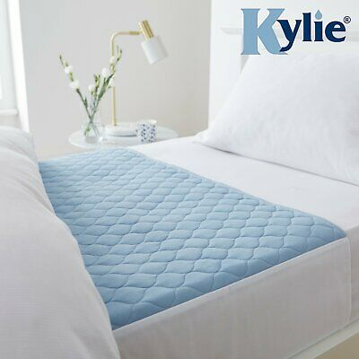 Kylie-3, Bed Pad Washable Absorbent Incontinence Sheets -Blue, Size 3, 91x91cms