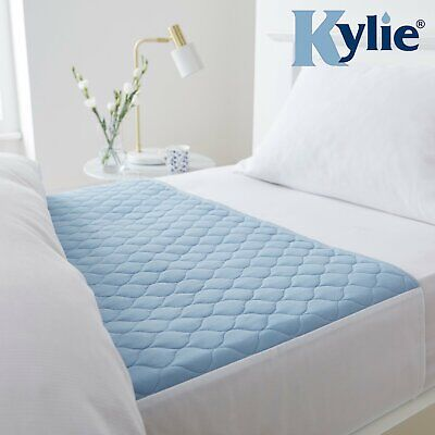 Kylie-3, Bed Pads Washable Absorbent Incontinence Sheets -Blue, Size 3, 91x91cms