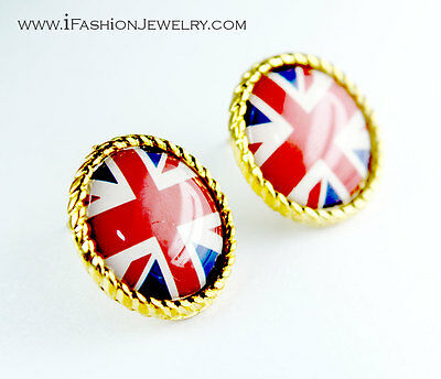 QUIRKY LONDON BUS STUDS red//gold fashion RETRO EARRINGS team GB,ENGLAND,UK
