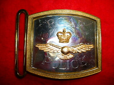 Royal Canadian Air Force / RCAF Police Queen's Crown Buckle, obsolete