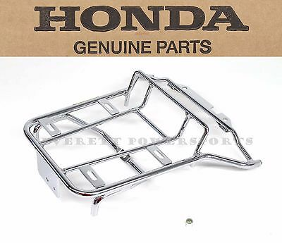 New Genuine Honda Chrome Rear Carrier Luggage Rack 02-12 CHF50 Metropolitan #V47