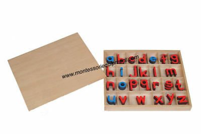 Montessori - Small Wood Movable Alphabet (Red &blue)