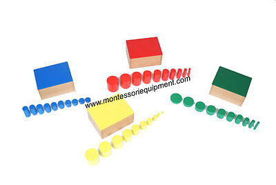Montessori Sensorial Material - Knobless Cylinders (Set Of 4) - New