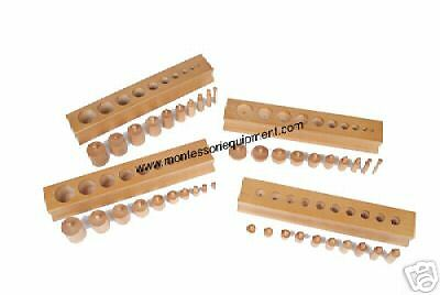 MONTESSORI MATERIALS - CYLINDER BLOCKS (SET of 4) - NEW