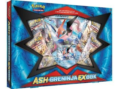 Pokemon TCG Ash-Greninja-EX Collection Box Trading Card Game Brand New