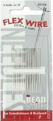 16 Beading Needles, Size 10 for FLEX WIRE 0.10 Wire or smaller