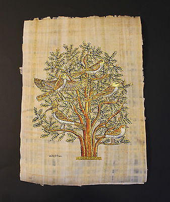 Egyptian Hand-Painted Papyrus Artwork: The Tree Of Life, 33cm x 48cm