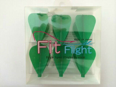 Cosmo Fit Flights Pack Of 6 Green Kite Shape