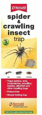 Rentokil Spider & Crawling Insect Trap Ants Woodlice Cockroaches 3 Pack FS58