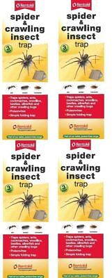 4 x Rentokil Spider & Crawling Insect Trap Ants Woodlice Cockroaches 3 Pack FS58