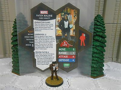 Heroscape Custom Patch Malone Dbl Sided Card & Figure w/ Sleeve Marvel