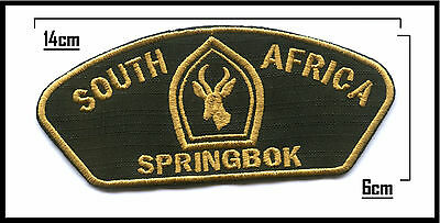 Embroidered South African Springbok Scout Campfire Blanket Patch