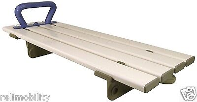 Bath Board in White with 4 Slats & Blue Handle Bathroom Safety Aid Mobility Aid