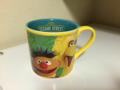 Sesame street coffee tea cup mug 14oz 2006 big bird oscar