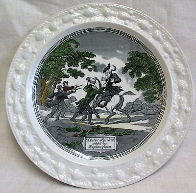 """9"""" Vintage Adams Dr Syntax Stopt By Highwaymen  Collectors Plate"""