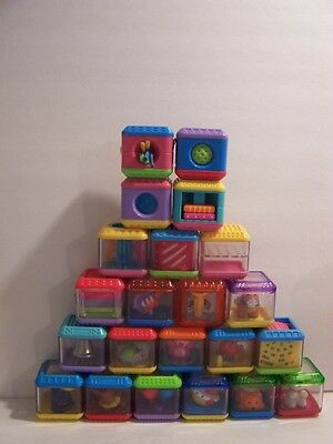 Fisher Price Lot of 22 Peek a Blocks Incrediblok Lot Playset Circus Music