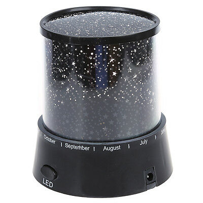 PL Romantic Star Master Colorful Starry Night Cosmos Projector Bed Side Lamp