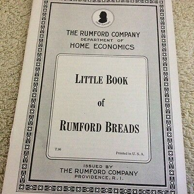 Vintage Rumford Company Booklets, Set of Three