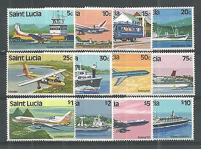 St Lucia 1980 Transport Sg,537-548 Um/m Nh Lot 209A
