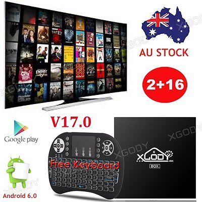 XGODY Android 6.0 NEW TV BOX S905X Quad Core With Keyboard 2/16G 4K Media Player